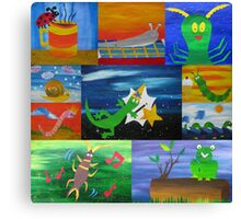 bugs collage Canvas Print