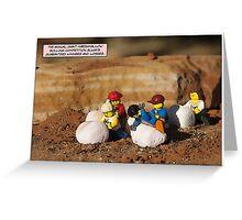 Marshmallow Race Greeting Card
