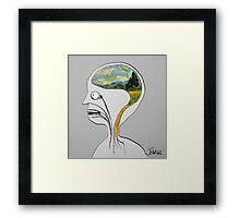 thinking like vincent Framed Print