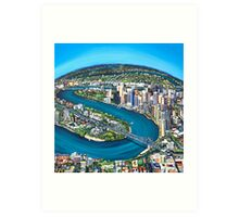 As the River Bends Art Print