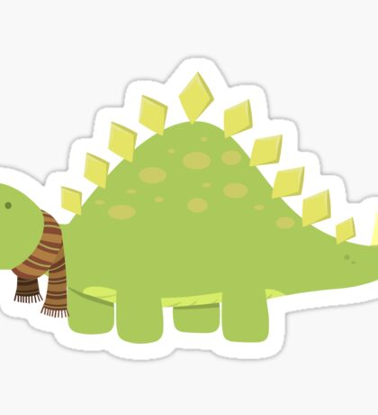 ScarfTegosaurus Sticker