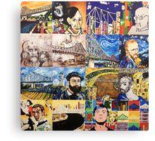 Mini Masters Collage Canvas Print