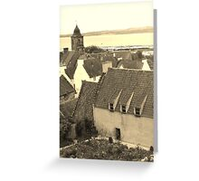 Culross in sepia Greeting Card