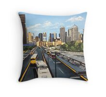 Busy Busway Throw Pillow