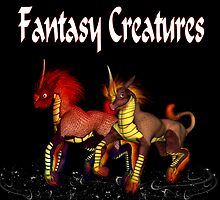 Fantasy Creatures .. calendar cover by LoneAngel
