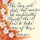 Trust the Lord inspirational verse for women by Melissa Goza