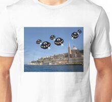 Aliens invade Valletta Unisex T-Shirt