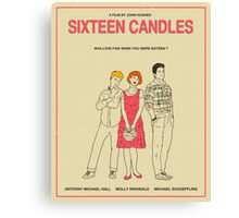 Sixteen Candles Movie Poster Canvas Print