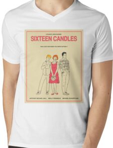 Sixteen Candles Movie Poster Mens V-Neck T-Shirt