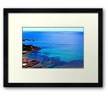 Blue Coloured Water Framed Print