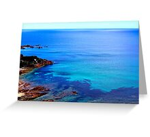 Blue Coloured Water Greeting Card
