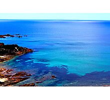 Blue Coloured Water Photographic Print