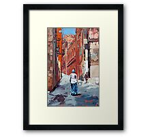 The Old Town, Sardinia, Italy Framed Print