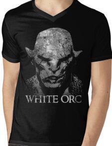 White Orc Mens V-Neck T-Shirt