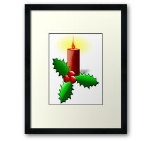Advent Candle with Holly Framed Print