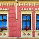 3 Windows in Presov - Slovakia by Arie Koene