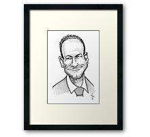 Caricature - Alan Shearer Framed Print