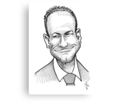 Caricature - Alan Shearer Canvas Print