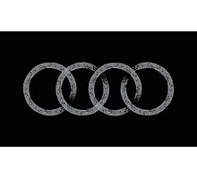 Audi logo marks black Photographic Print