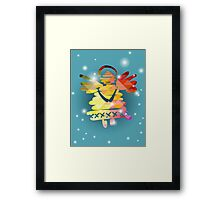 Christmas angel and New Year hand-painted decoration Framed Print