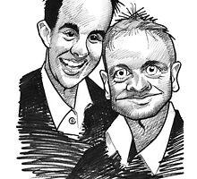 Caricature - Ant & Dec by Jan Szymczuk