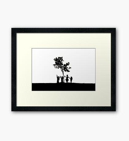 Children Holding Hands Framed Print