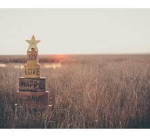 Love & Joy at Sunset Photographic Print
