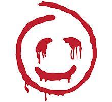 Red John smiley Photographic Print