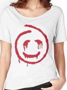 Red John smiley Women's Relaxed Fit T-Shirt