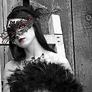 Girl in Mask, Ottawa Ontario by Debbie Pinard