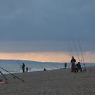 FISHING ON THE BEACH by victor55