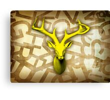stag font Canvas Print