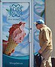 Man and Ice Cream, Westboro Ottawa Ontario by Debbie Pinard
