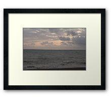 Moody Sky. Framed Print