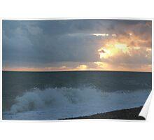 Crashing Waves At Dungeness Poster