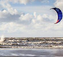 Kite Surfing - 1274 by Jennifer Moon