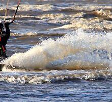 Kite Surfing - 1245 by Jennifer Moon