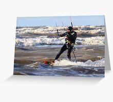 Kite Surfing - 1247 Greeting Card