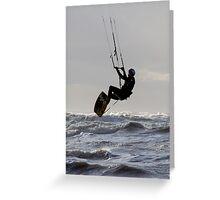Kite Surfing - 1241 Greeting Card