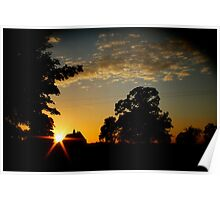 Lincolnshire Sunset Poster