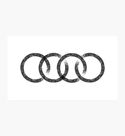 Audi logo marks white Photographic Print