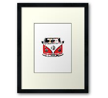 VW Camper Santa Father Christmas Red Framed Print
