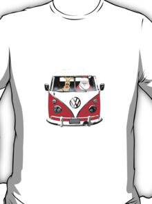 VW Camper Santa Father Christmas Red T-Shirt
