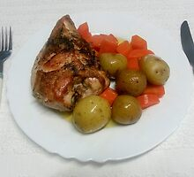 Perfect Roast Chicken Breast Bone In And Skin On by Michael Redbourn