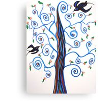 Swallows and the Orange Tree Canvas Print
