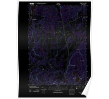 USGS Topo Map  Vermont VT Benson 20120607 TM Inverted Poster