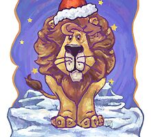 Lion Christmas Card by Traci VanWagoner