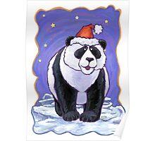 Panda Bear Christmas Poster