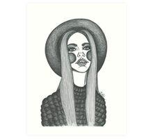 stylish boho fashion illustration  Art Print
