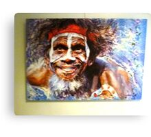*Painting of Australian Aborigine - Daylesford Art Gallery - NOT FOR SALE* Canvas Print